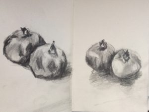 Skizze Granatäpfel 2